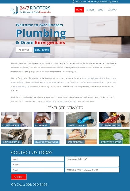 Website Design for North Jersey Plumbers