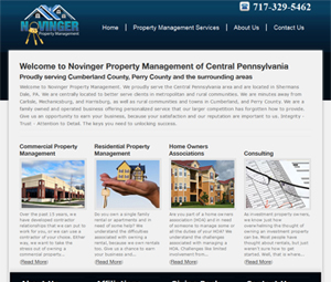 Central PA Property Management Webpage Design