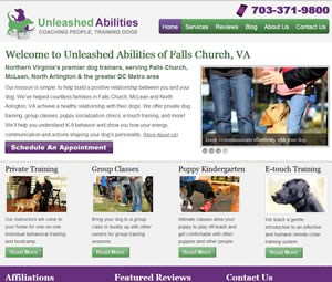 Website Design for Virginia Dog Trainer