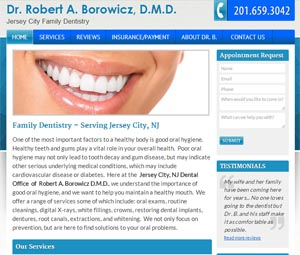 JC dentist website design