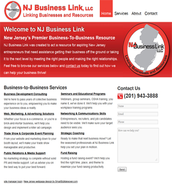 Website Design for New Jersey Small Business Consultants