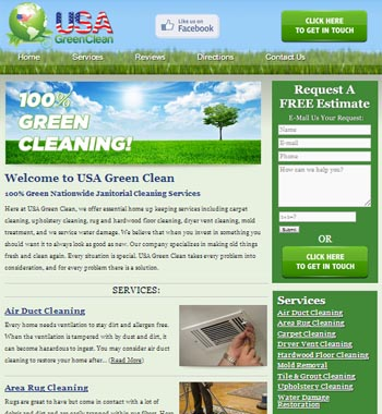 NJ Cleaning Service Website Design