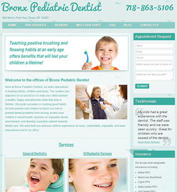 NY Pediatric Dentist Website Redesign