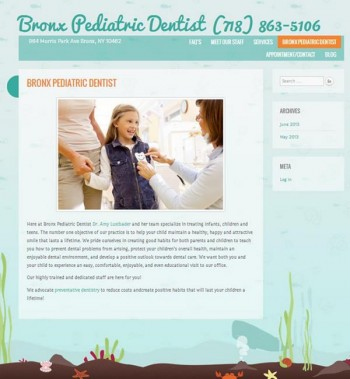 Bronx Pediatric Dentist Website Redesign