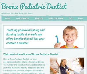 Webpage Design for Dentist in the Bronx, NY