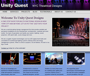 NYC Lighting and Sound Technician Website Design