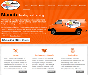 Webpage Design for North Virginia HVAC Contractor