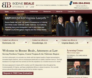 Virginia Attorney Website Design