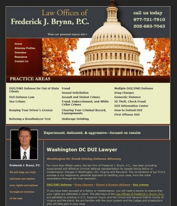 Original website design attorney in Washington DC Attorney