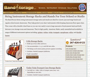 Musical Product E-commerce Website Design