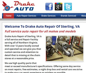 Website Redesign for Sterling, Virginia Auto Shop