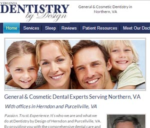 VA dentist website redesign