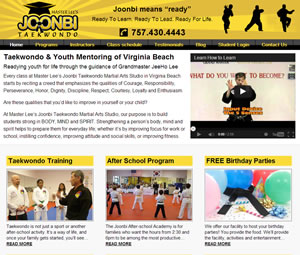 Taekwondo Instruction Website Makeover