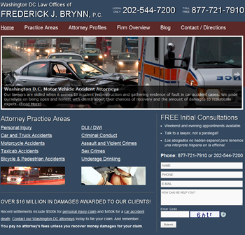 New Website Design For Washington DC Lawyer