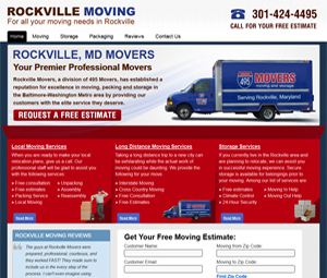 Maryland Webpage Design For Moving Business