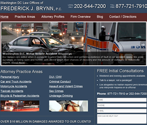 Website Design for Attorney in Washington DC