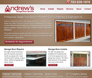 Website Design for Virginia Garage Contractor