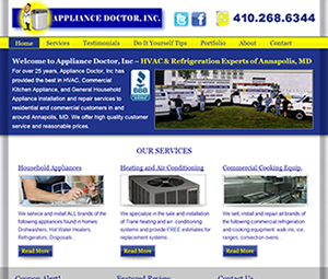 Annapolis, MD HVAC Website Design