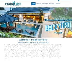 Brand New Site for Annapolis, MD Pool Builder