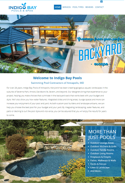 Website Design for Maryland City Contractor