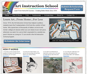 Website Design For New Jersey Home Art Class