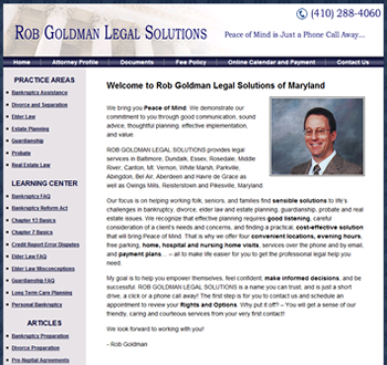 Website Redesign for Baltimore Attorney