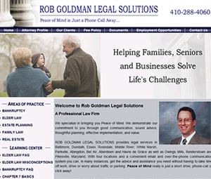 Website Design for baltimore maryland attorney