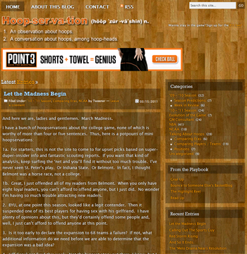 New Basketball Blog Website Re-design