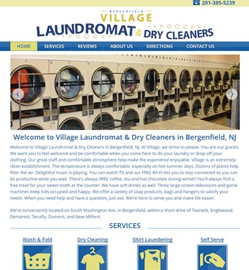 new website for bergenfield, nj laundromat