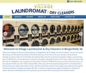 Responsive Web Design for Bergenfield, NJ Laundromat