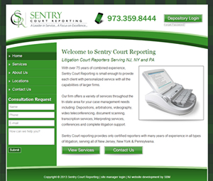 Webpage Design for New Jersey Court Reporters
