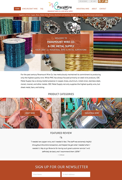 craft wire ecommerce site