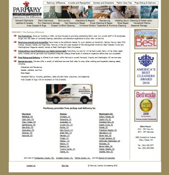 original website design for this maryland business