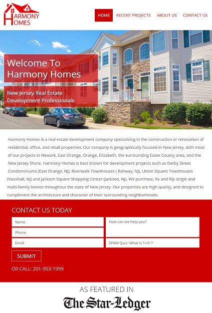 Website Design for Jersey City Real Estate