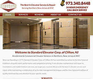 Website Redesign For Clifton, NJ Elevator Contractor