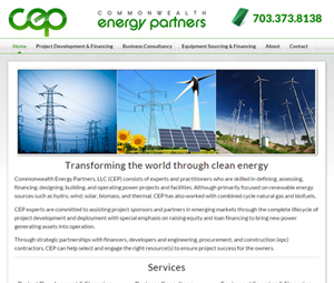 Website redesign for energy consultants in Virginia