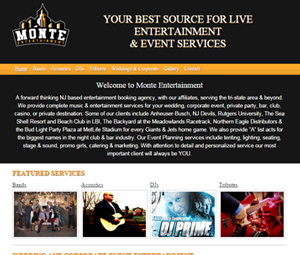 Website Design for this New Jersey Entertainment and Event Services Company
