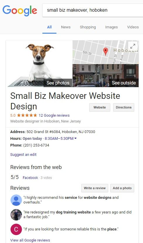 expanded google my business profile