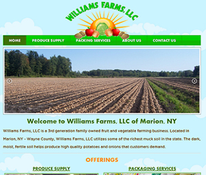 New Website Design for New York Farm