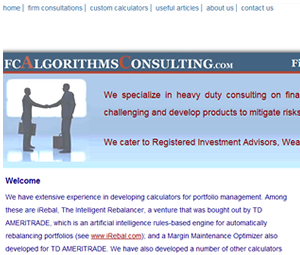 Website design for financial consultants