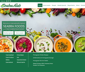 Website Project for New Jersey Supermarket Chain