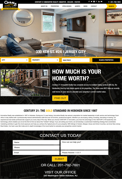 Website Design for Hoboken City Real Estate