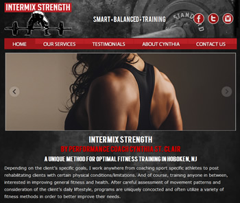 website development for fitness trainer