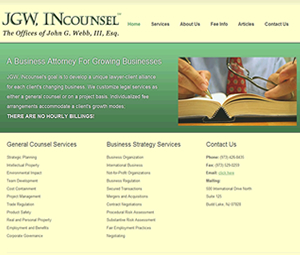 New Jersey attorney website design