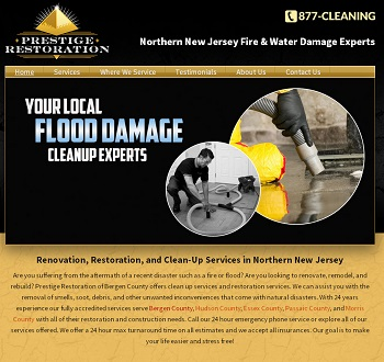 Webpage Design for Northern NJ Renovation/Restoration Company