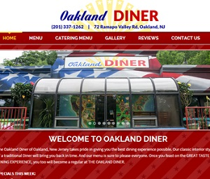 Webpage Design for Diner in Oakland, NJ