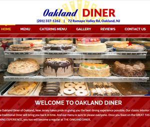 New Website Design for New Jersey Diner