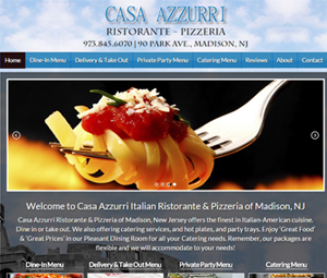 New website design for Madison, NJ Restaurant and Pizzeria