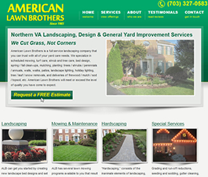 Virginia Landscape Company Website Design