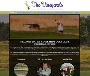 Long Island, NY Golf Course Website Design